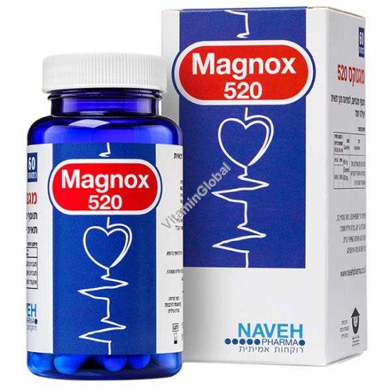"""מגנוקס 520 - מגנזיום קומפלקס 520 מ""""ג 60 כמוסות צמחיות - נוה"""