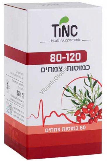 פורמולת 120/80 להורדת לחץ הדם 60 כמוסות צמחיות - טינקטורה טק