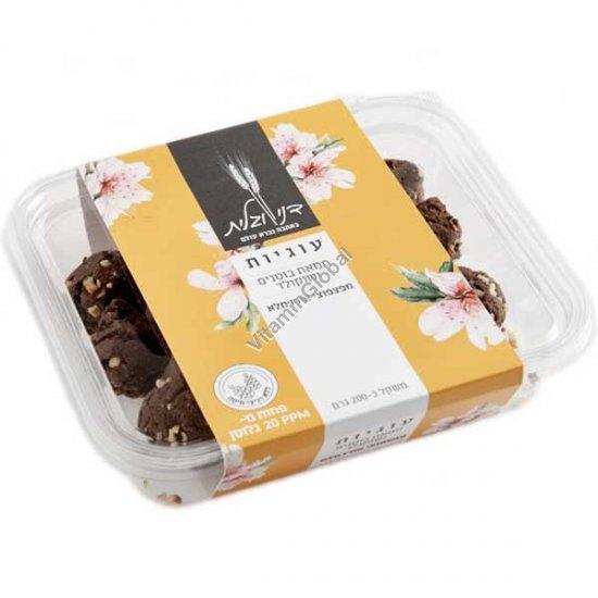 עוגיות חמאת בוטנים ושוקולד מפצפוצי אורז מלא 200 גרם - דני וגלית אפייה בריאה