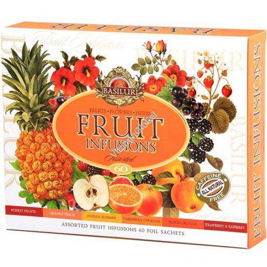 מארז חליטות פירות 6 טעמים 60 שקיקים - בזילור