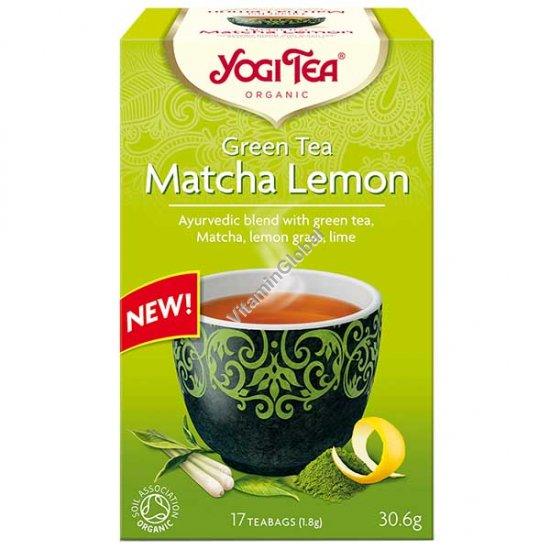 תה ירוק מאצ\'ה אורגני עם לימון 17 שקיקים - יוגי טי