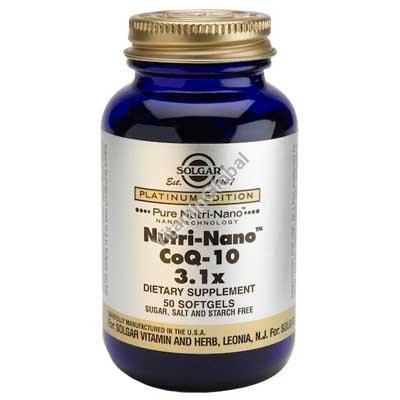 קו-אנזים Nutri-Nano CoQ-10 של סולגאר 50 כמוסות