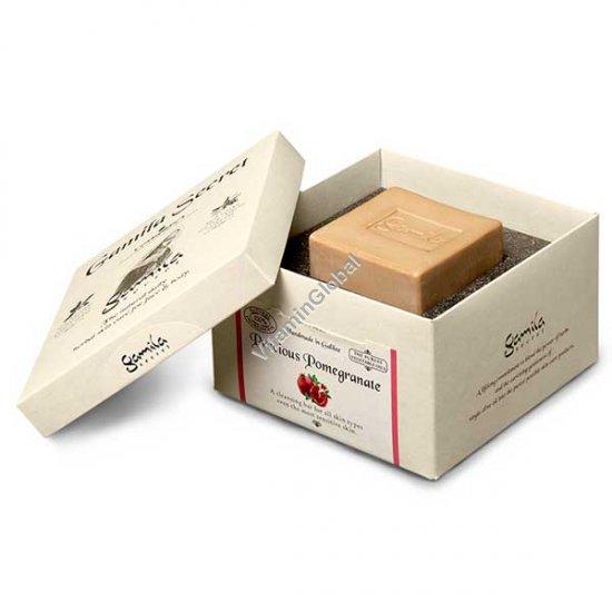 סבון טבעי רימונים לרחצה ולטיפוח 115 גרם - סבתא ג`מילה