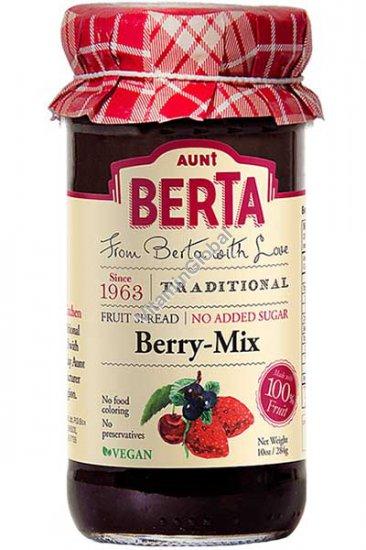 מעדן פירות יער ללא תוספת סוכר 284 גרם - ברטה