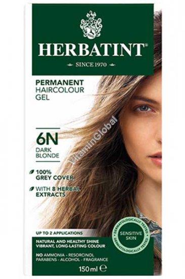 צבע לשיער גוון בלונד כהה (6N) - הרבטינט