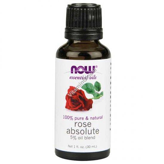"""שמן ורד אבסולוט 5% עם שמן זרעי ענבים 30 מ""""ל - נאו שמנים אתריים"""