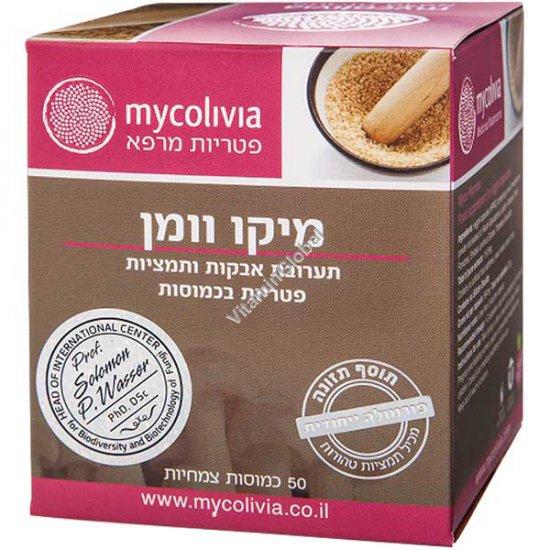מיקו וומן - לטיפול בקנדידה וזיהומי פטריות 50 כמוסות - מיקוליביה