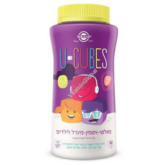 מולטי ויטמין מינרל לילדים - קוביות ג\'לי ללעיסה - סולגאר