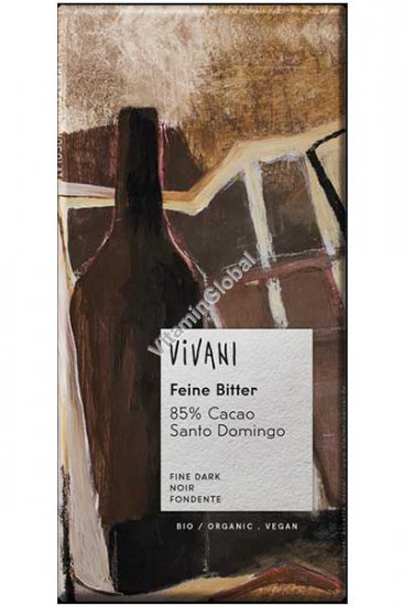 שוקולד אורגני מריר 85% קקאו 100 גרם - ויואני
