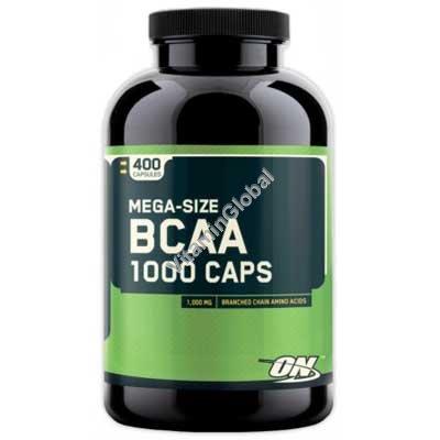 """BCAA חומצות אמינו 1000 מ""""ג 400 כמוסות - אופטימום נוטרישן"""