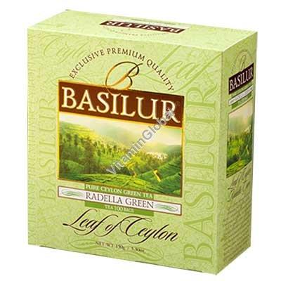 פרימיום תה ירוק רדלה 100 שקיקים - בסילור