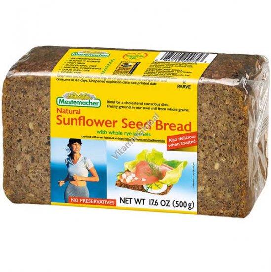 לחם שיפון מלא עם זרעי חמניות 500 גרם - מסטמכר