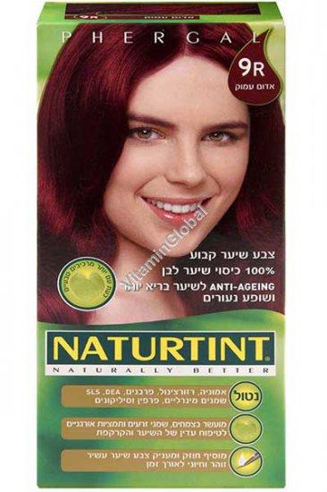 צבע שיער קבוע, גוון אדום עמוק 9R - נטורטינט
