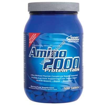 אמינו 2000 חומצות אמינו 500 טבליות - אינר ארמור + חטיף חלבון מתנה