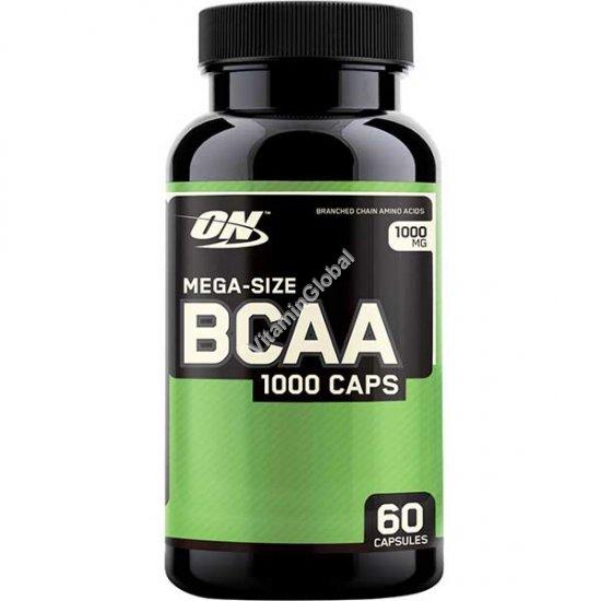 """BCAA חומצות אמינו 1000 מ""""ג 60 כמוסות - אופטימום נוטרישן"""