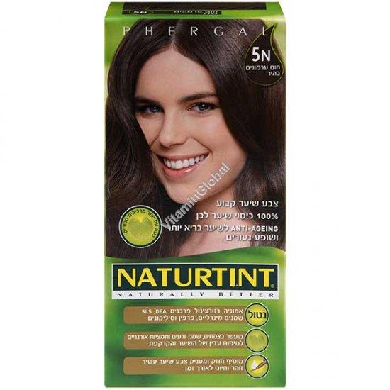 צבע שיער גוון חום ערמונים בהיר 5N - נטורטינט