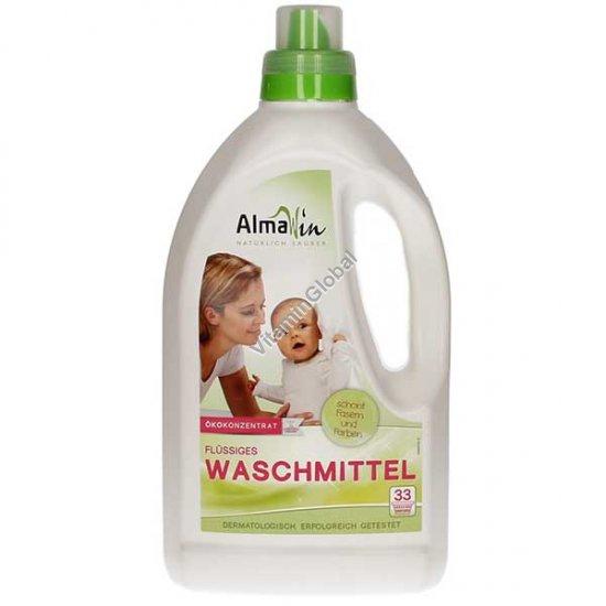 נוזל אקולוגי לכביסה לבנה וצבעונית 1.5 ליטר - אלמה וין