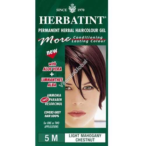 צבע לשיער גוון מהגוני ערמוני בהיר 5M - הרבטינט