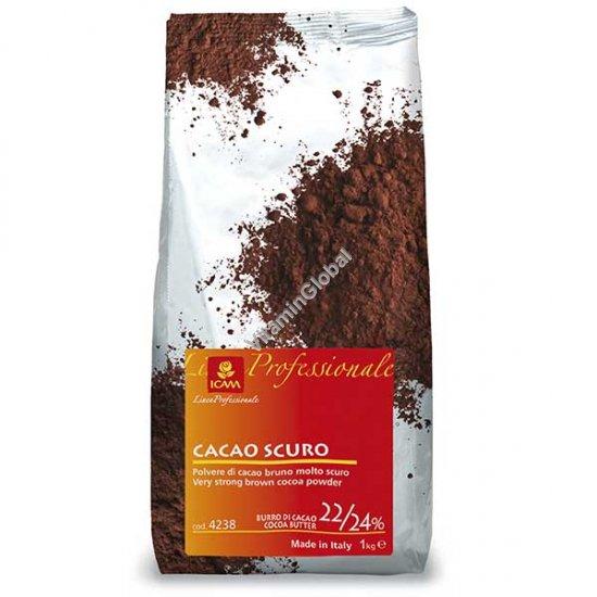 """אבקת קקאו, עם 22%-24% חמאת קקאו 1 ק""""ג - ICAM"""