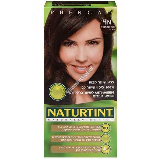 צבע שיער גוון חום ערמונים טבעי 4N - נטורטינט