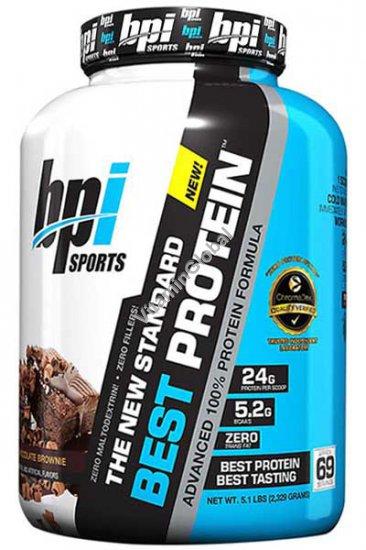 """אבקת חלבון בסט פרוטאין בטעם בראוניז שוקולד 2.329 ק""""ג - BPI"""