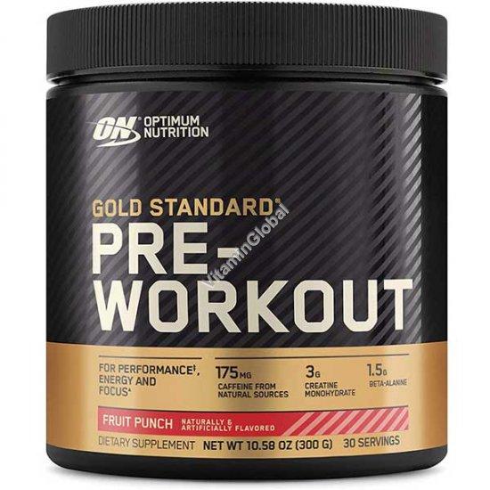 קדם אימון - גולד סטאנדרט Pre-Workout - פורמולה לפני אימון בטעם פירות 300 גרם - אופטימום נוטרישן
