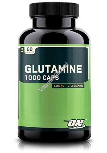 """גלוטמין 1000 מ""""ג 60 כמוסות - אופטימום נוטרישן"""