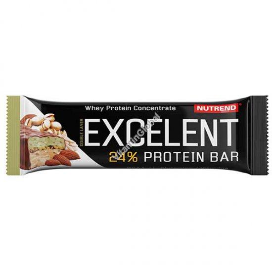 חטיף חלבון בטעם שקדים ופיסטוקים עם פיסטוקים בציפוי שוקולד חלב 85 גרם - נוטרנד