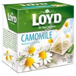 חליטת קמומיל 20 שקיות תה פירמידה - לויד