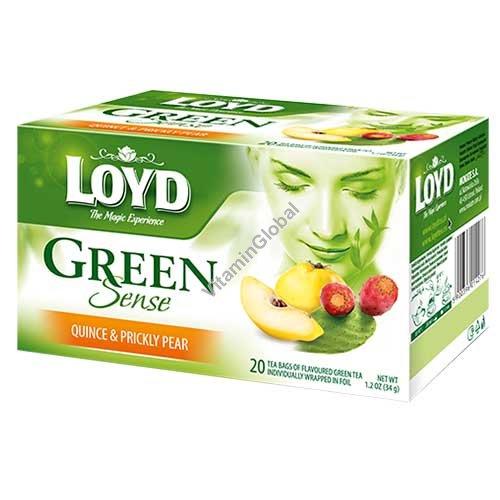 .תה ירוק עם חבושים וסברס 20 שקיקים - לויד