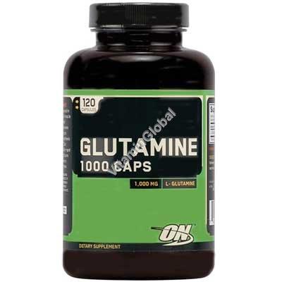 """גלוטמין 1000 מ""""ג 120 כמוסות - אופטימום נוטרישן"""