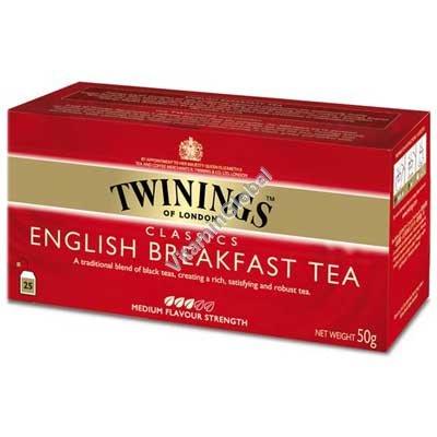 תה שחור אינגליש ברקפסט 25 שקיקים - טווינינגס