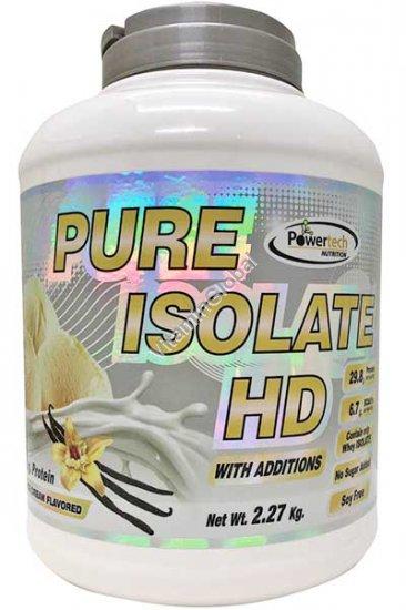 """חלבון פיור אייזולייט HD כשר בטעם וניל 2.27 ק""""ג - פאוורטק"""