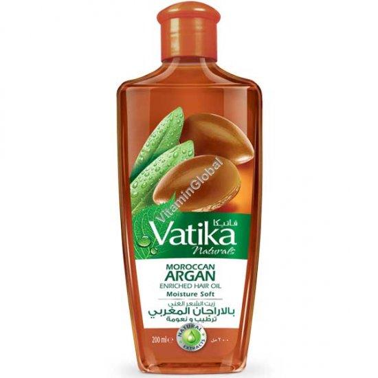 """שמן לשיער מועשר בשמן ארגן מרוקאי המעניק לחות, עדינות ורכות משי 200 מ""""ל - וטיקה"""