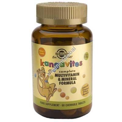 מולטי-ויטמין טבעי לילדים בטעם פירות טרופיים טבעי 60 טבליות לעיסה - סולגאר