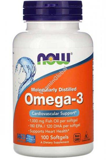 שמן דגים אומגה 3 - חומצות שומן חיוניות 100 כמוסות רכות - נאו פודס