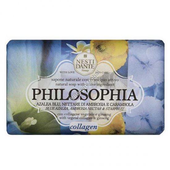 סבון טבעי טיפולי קולגן וג\'ינסנג, סדרת פילוסופיה 250 גרם - נסטי דנטה