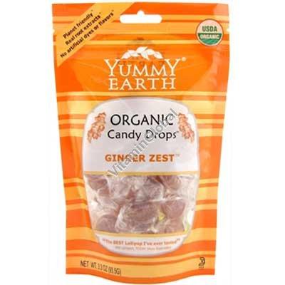 סוכריות קשות אורגניות בטעם ג\'ינג\'ר 93.5 גרם - יוממי