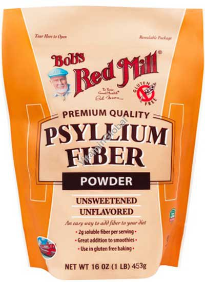 אבקת פסיליום ללא גלוטן 453 גרם - בובס רד מיל
