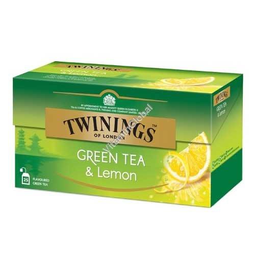 תה ירוק עם לימון 25 שקיות - טווינינגס