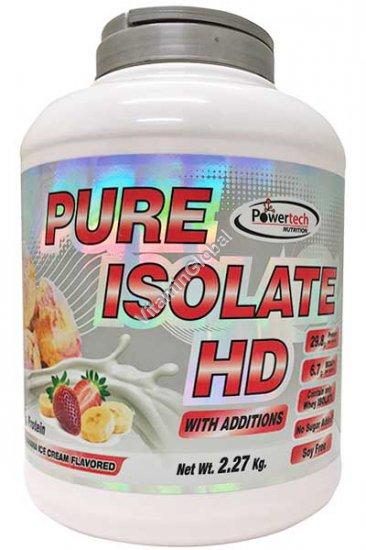 """חלבון פיור אייזולייט HD כשר בטעם תות-בננה 2.27 ק""""ג - פאוורטק"""