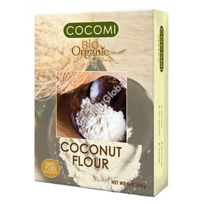 קמח קוקוס אורגני 500 גרם - קוקומי