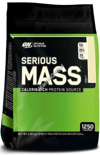"""אבקה לעליה במשקל סיריוס מאס בטעם וניל 5.455 ק""""ג - אופטימום נוטרישן"""