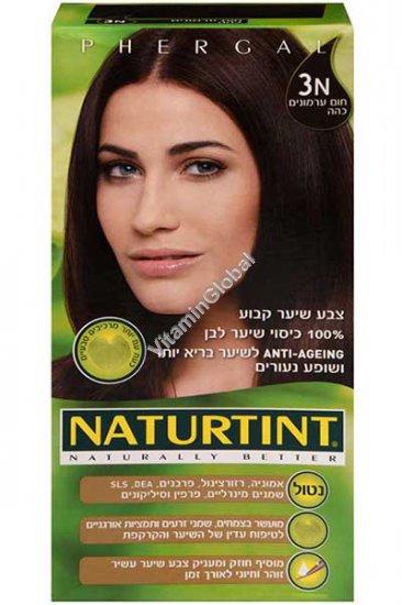 צבע לשיער קבוע, גוון חום ערמונים כהה 3N - נטורטינט