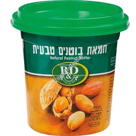 חמאת בוטנים טבעית 350 גרם - בי אנד די