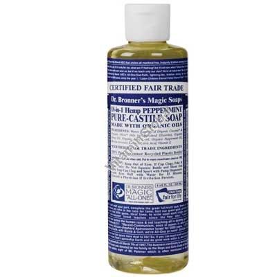"""סבון טבעי נוזלי מנטה 472 מ""""ל - ד""""ר ברונר"""