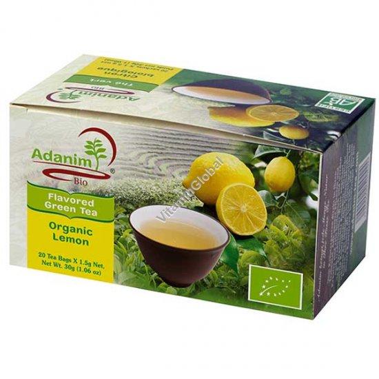 תה ירוק עם לימונית ולואיזה אורגני 20 שקיקים - עדנים