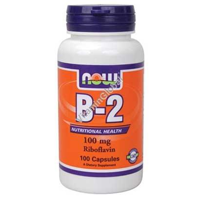 """ויטמין B2 (ריבופלבין) 100 מ""""ג 100 כמוסות - נאו פודס"""