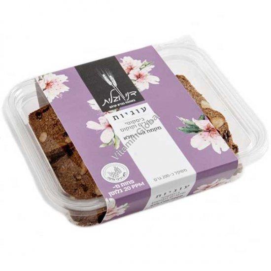עוגיות ביסקוטי עם שקדים, קוקוס וקמח אורז מלא 200 גרם - דני וגלית אפייה בריאה
