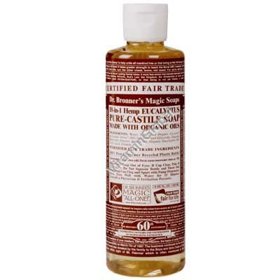 """סבון טבעי נוזלי אקליפטוס 472 מ""""ל - ד""""ר ברונר"""